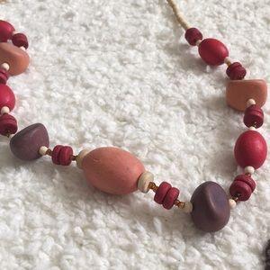 Boho Wooden Beaded Necklace